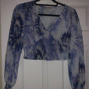 NWOT Tie dye crop top 💙